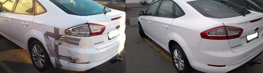 JA Ward Panel & Paint Before & After Ford Mondeo